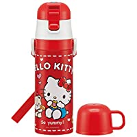 Skater 儿童用 2WAY 不锈钢 水壶 带杯子 Hello Kitty 曲奇三丽鸥 430毫升 SKDC4
