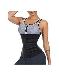 Timein 健身汗带腰部训练紧身胸衣运动束腰带双腰带加大码 Fajas 桑拿