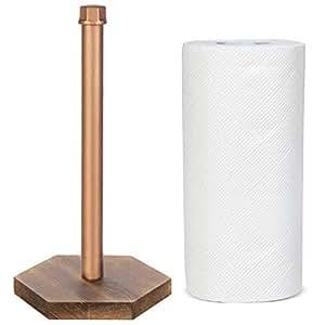 MyGift 工业管木料台面纸巾架 铜色 KIT1742COP