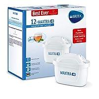 BRITA 碧然德 MAXTRA+ 滤水壶滤芯 与BRITA水壶兼容 有助于减少水垢和氯,白色,12个装