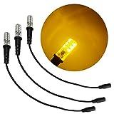 3 个装琥珀色特殊效果 LED 12 伏直流 带泡沫木安装电缆套筒 DC 桶连接器,用于主题娱乐道具剧院风景水彩虹灯演出灯