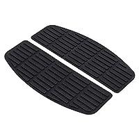XMMT 黑色驾驶员橡胶地板垫兼容哈雷旅行软尾Dyna 1986-2017