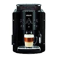 Krups 克鲁伯 EA8108全自动咖啡机(1450W,1.8升水箱,CappuccinoPlus喷嘴,2杯功能,15bar)黑色