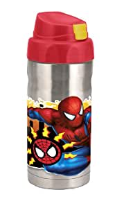 Planet Zak's Good to Go Spider-Man Classic 12-Ounce Double Wall Stainless Steel Canteen