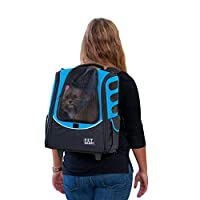 Pet Gear I-GO2 Escort Roller Backpack for Cats and Dogs 海蓝 均码
