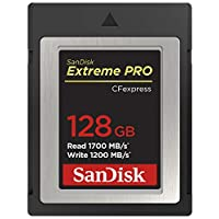 SanDisk Extreme PRO Cfexpress B 型卡,64GB,*高1700MB/SSDCFE-128G-GN4IN 128 GB