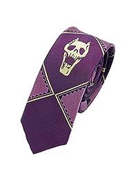 OfficialOtaku JoJoo 的奇妙冒险 Kira Yoshikage 角色扮演修身领带 - 紫色
