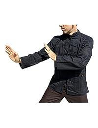 RaanPahMuang 混合棉质中国风琴夹克衫