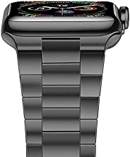 iiteeology 兼容苹果手表表带,*版实心不锈钢表带商务替换苹果手表腕带 5/4/3/2/1iiteeology4244sp  42mm/44mm Space Gray