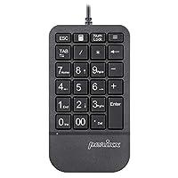 Perixx Periduo,有线紧凑人体工程学分叉设计键盘和垂直鼠标组合,键盘带可调节掌托,倾斜滚轮,薄膜低调PERIPAD-205U Wired Keypad