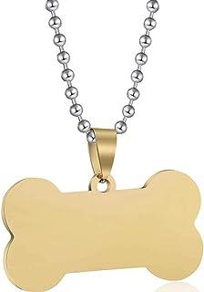 Jude Jewelers 不锈钢狗骨头玩具形状吊坠项链