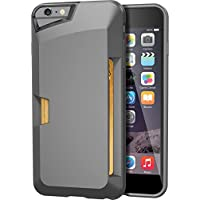 "iPhone 6 Plus Wallet Case - Vault Slim Wallet for iPhone 6 Plus (5.5"") by Silk - Ultra Slim Protective Credit Card Carrying Cover (Gunmetal Gray)"