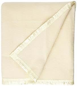 Comptoir du Linge 厘米er18 美利奴羊毛,象牙色/自然色 Ivoire/Naturel 240x220x1 cm