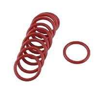 Uxcell 10x 橡胶油密封圈垫圈,红色,18 毫米 x 2 毫米 x 14 毫米