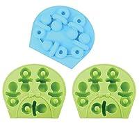 3 件装安抚奶嘴硅胶模具 婴儿淋浴冰立方巧克力香皂托盘派对烘焙师(从美国发货)