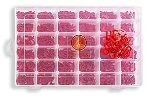 信纸板替换字母,共 564 个预切角色,36 个小盒。 0.75 inch 红色