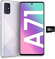 Samsung Galaxy A71(128GB,6GB)6.7英寸,64MP 四摄像头,25W 快速充电器,Android 10,GSM 解锁美国+全球4G LTE国际型号 A715F/DSA715F/DS 128GB