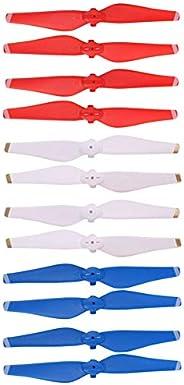 Helistar 螺旋桨 6 对 5332S 彩色快速释放刀片 兼容 DJI Mavic Air Drone CW CCW 螺旋桨 (红色 + 白色 + 蓝色)