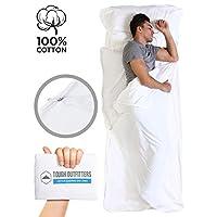 Tough Outdoors XL 双人睡袋衬垫 - 成人旅行床单 - 轻便睡袋,适用于露营、旅行、酒店和背包 - 光滑透气面料