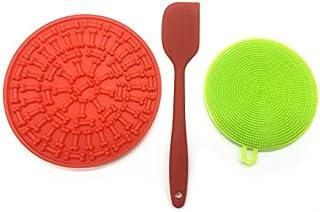 EMPOROI | 宠物狗舔垫 带*喂食器舔狗垫 一套刮刀带垫清洁器 | 可用于家庭室内和室外活动中的宠物洗澡训练