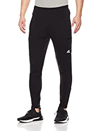 adidas 阿迪达斯 男式 运动型格 针织长裤 CV6265 黑/白 PT KN OH