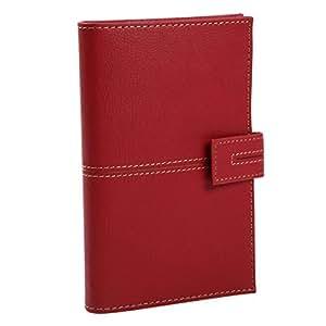 B6 尺寸可供选择的经典系统笔记本 薄型 星星偏移: 自由月历25P(12个月) 周历69P(约15个月) 16cm尺 4色小贴布套装 垫底 透明口袋 横线笔记65P 素色笔记21P 地址簿4P 个人信息 *红色