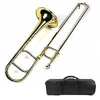 全新 Eb Alto Trombone w/手机壳和吹嘴 - 金色漆面
