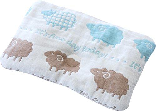 Sandesica 宝宝*次婴儿枕 柔软6层纱布 羊