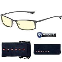 Gunnar Optiks Phenom Full Rim Ergonomic Advanced Computer Glasses with Amber Lens Tint 石墨色