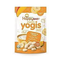 Happy Baby 冷冻酸奶和水果辅食 香蕉芒果口味 1袋1盎司(28g)8袋 包装可能有所不同 无人工香料 无麸质 Non-GMO Kosher