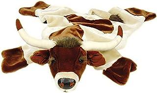 Carstens 毛绒长角牛动物地毯,L 码