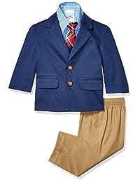 Nautica 诺帝卡男婴 4 件套套装,配礼服衬衫、领带、夹克和裤子