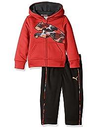 Puma 男婴 2 件高科技抓绒连帽外套,猫和裤子套装