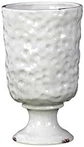 Urban Trends 12520-UT 陶瓷花瓶锤锻设计光泽,白色