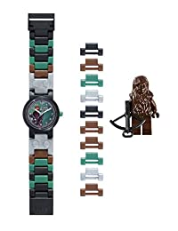 Lego Boy's Star Wars Chewbacca Quartz Watch with Green Dial Analogue Display and Multicolour Plastic Strap 9001116