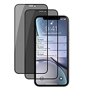 iPhone X/iPhone Xs 钢化玻璃屏幕保护膜 iPhoneXS,DDJ 防潮 3D 全覆盖钢化玻璃保护膜防撕裂隐私保护 iPhone XR 6.1''