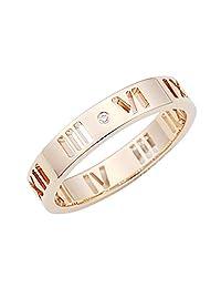 TIFFANY 蒂芙尼 18KRG 玫瑰金 Atlas 钻石 戒指 カラー-ピンク