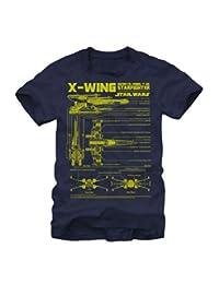 星球大战 X-Wing 星际战斗机图案成人 T 恤