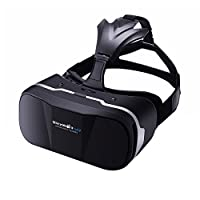 BlitzWolf VR Headset 3D Virtual Reality Glasses+Bluetooth Remote Controller Movies Games Box Helmet for Up to 6.3 inch iPhone Samsung LG SONY Moto Nexus VR3