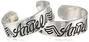 Bob Siemon 纯银信任、希望、爱和天使脚趾环,2 枚