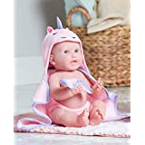 "JC Toys La Newborn Moments 17"" with Doll Hooded Princess Towel"