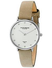 Akribos XXIV 石英女士手表 AK882WT(亚马逊进口直采,美国品牌)