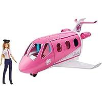 Barbie 芭比 GJB33 – 旅行梦幻飞机 带娃娃和配件,娃娃玩具 3 岁以上