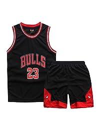 Onlyso 男童 2 件套篮球表演背心和短裤套装