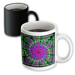 3dRose mug_24840_3 Psychedellic Spiral Purple Lilac Green Spiral Spiralling Psychedellic Hippie Flowerpower Newage Magic Transforming Mug, 11-Ounce