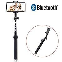 Elecom宜丽客 自拍杆 自拍杆 自拍杆 蓝牙遥控器 [360°旋转] iPhone/AndroidP-SSB01RBK Bluetooth 1) 100cm 黑色