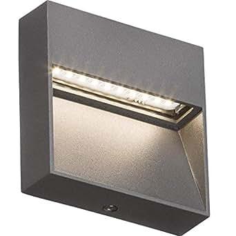 Knightsbridge 230V IP44 2W LED 方形墙/导向灯 - 灰色