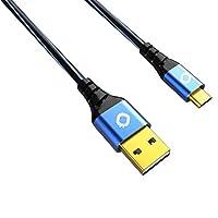 oehlbach D1°c9330USB PLUS USB A 至 micro-b 数据线–黑色/蓝色