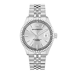 PHILIP WATCH 男士模拟自动手表不锈钢表链 R8223597012
