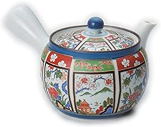 有田烧 茶壶 锦间取山水中茶壶 [400cc] 有田烧 强化和食器 *器 日式*馆 旅馆 业务用